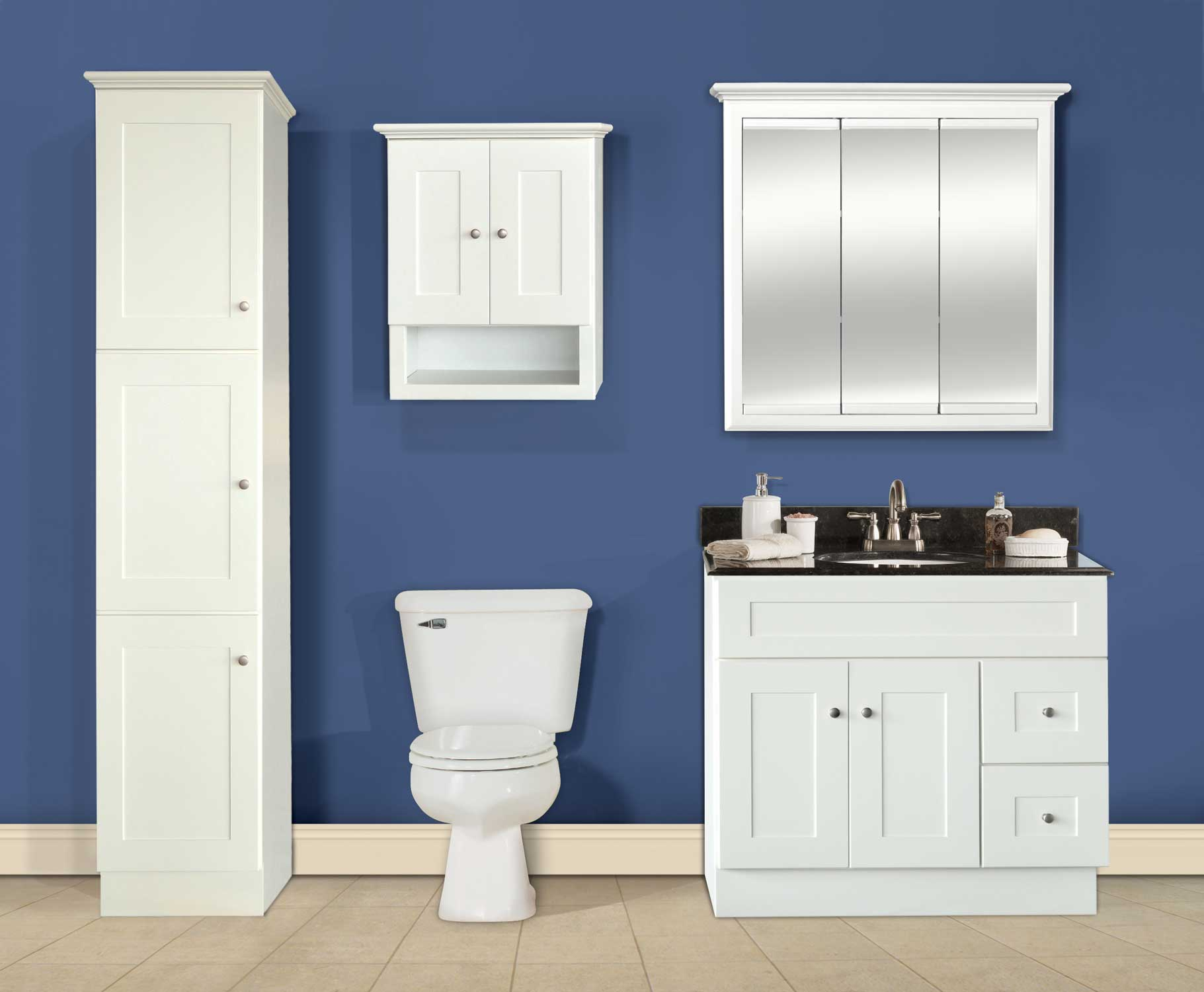 Line Art Bathroom Furniture : Linen white welcome to ghi cabinets ghicabinets